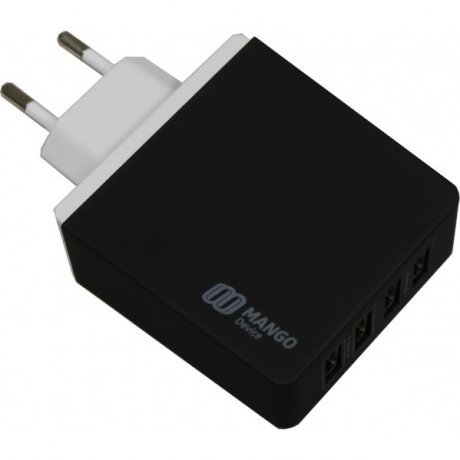 Сетевое зарядное устройство Mango Device 4-USB-Port 5.2A (Black,Family-Sized USB charger)