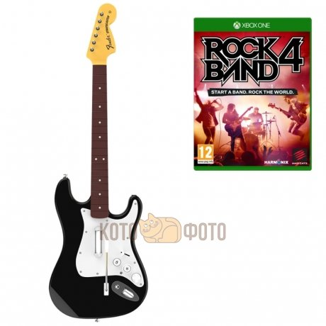 Игра Rock Band 4 Wireless Fender Stratocaster (игра + гитара) для xBox One