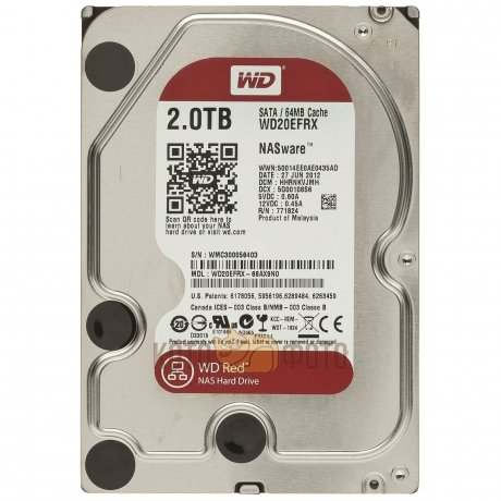 Жесткий диск WD Original SATA-III 2Tb WD20EFRX Red 64Mb 3.5