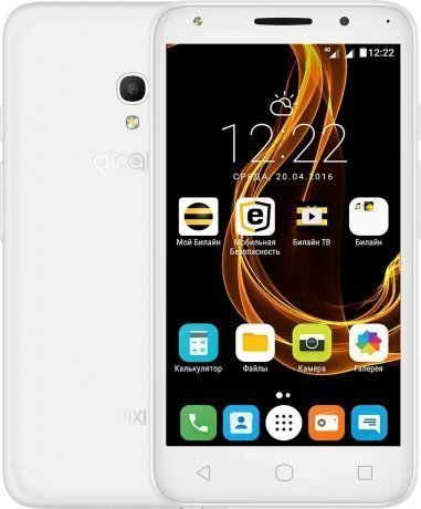 Смартфон Alcatel Pixi 4 (5) 5045D White чехол флип кейс alcatel flipcover для alcatel pixi 4 5045 белый [g5045 3balfcg]