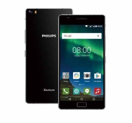 Смартфон Philips Xenium X818 Black ноутбук lenovo ideapad 320 17ikb 17 3 1600x900 intel core i3 7100u 500 gb 8gb nvidia geforce gt 920mx 2048 мб серебристый windows 10 home