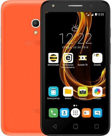 Смартфон Alcatel Pixi 4 (5) 5045D Amber Orange чехол флип кейс alcatel flipcover для alcatel pixi 4 5045 белый [g5045 3balfcg]