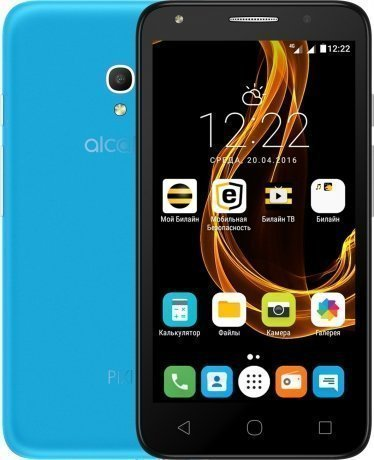 Смартфон Alcatel Pixi 4 (5) 5045D Sharp Blue чехол флип кейс alcatel flipcover для alcatel pixi 4 5045 белый [g5045 3balfcg]