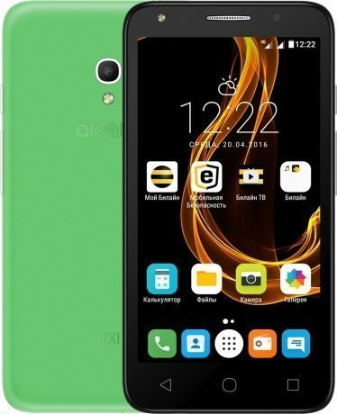 Смартфон Alcatel Pixi 4 (5) 5045D Green чехол флип кейс alcatel flipcover для alcatel pixi 4 5045 белый [g5045 3balfcg]