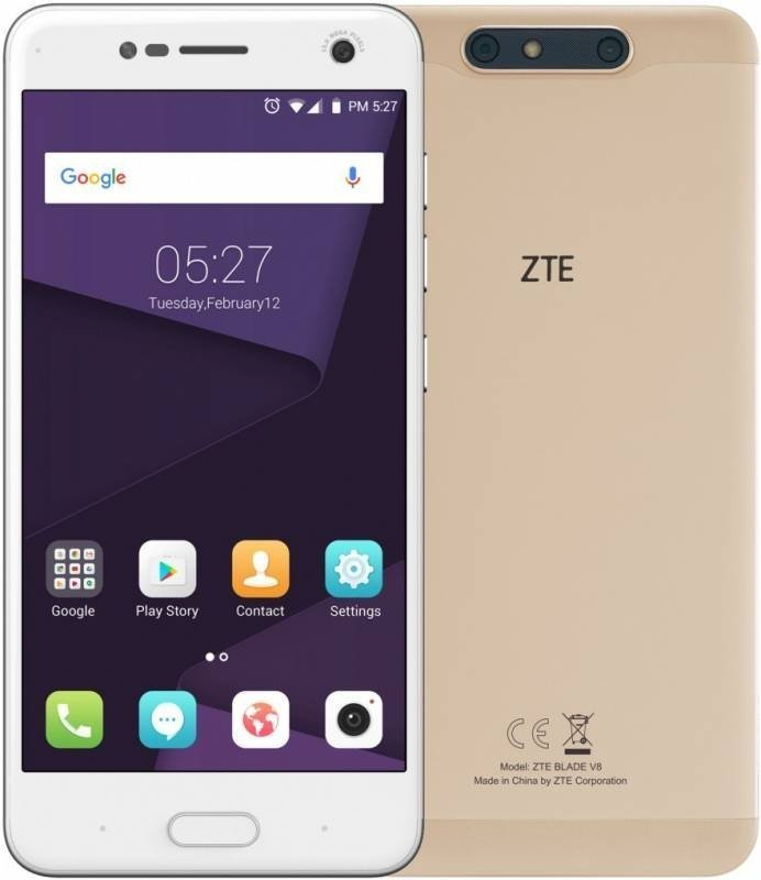 Смартфон ZTE Blade V8 32Gb Gold смартфон zte blade v8 mini 32gb gold