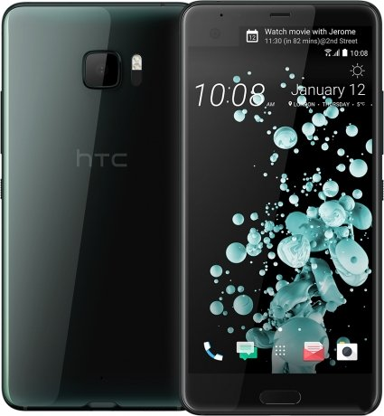Смартфон HTC U Ultra 128Gb Brilliant Black аксессуар чехол htc u ultra brosco black htc uu book black