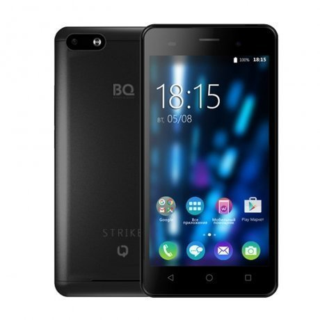 Смартфон BQ Mobile BQ-5020 Strike Black Brushed аксессуар чехол htc u ultra brosco black htc uu book black