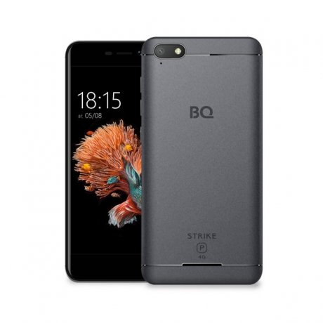 Смартфон BQ Mobile BQ-5037 Strike Power 4G Dark Grey nillkin qin leather case чехол для samsung galaxy s8 plus braun