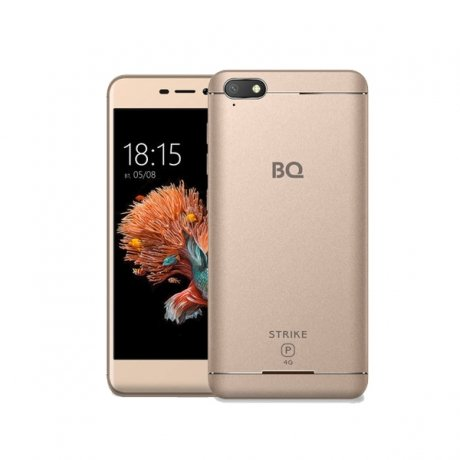 Смартфон BQ Mobile BQ-5037 Strike Power 4G Gold bq mobile bq bqs 5050 strike selfie розовый