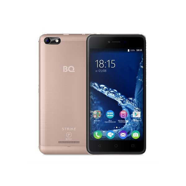 Смартфон BQ BQ-5058 Strike Power Easy Pink Gold смартфон bq bq 5510 strike power max 4g золотистый mediatek mt6737 1гб 8 гб 5 5 1280x720 13mpix dualsim 3g 4g bt android 7 0
