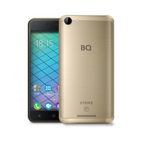 Смартфон BQ Mobile 5059 Strike Power Gold bq mobile bq bqs 5050 strike selfie розовый