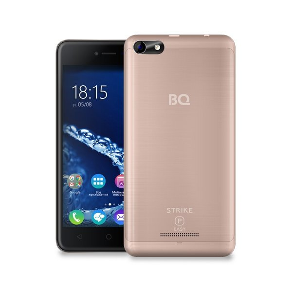 Смартфон BQ BQ-5058 Strike Power Easy SE Gold смартфон bq bq 5510 strike power max 4g золотистый mediatek mt6737 1гб 8 гб 5 5 1280x720 13mpix dualsim 3g 4g bt android 7 0