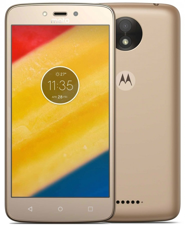 Смартфон Motorola Moto C Plus 16Gb 1Gb LTE Gold смартфон motorola moto g5s 3 32gb xt1794 gold