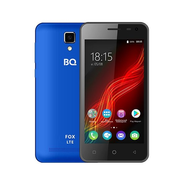 Смартфон BQ BQ-4500L Fox Blue смартфон bq mobile bq 4500l fox lte red