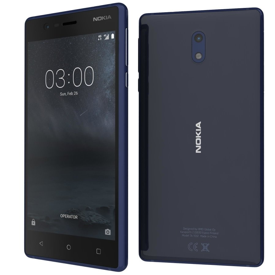 Смартфон Nokia 3 DS Blue смартфон 11es2l01a01 nokia 3 1 ds blue