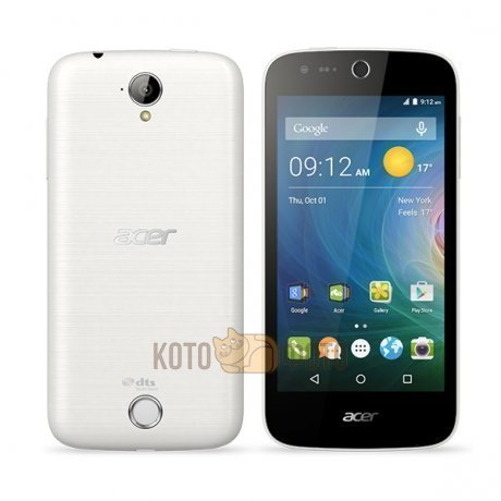 Смартфон Acer Liquid Z330 White смартфон meizu u20 32 gb rose gold white