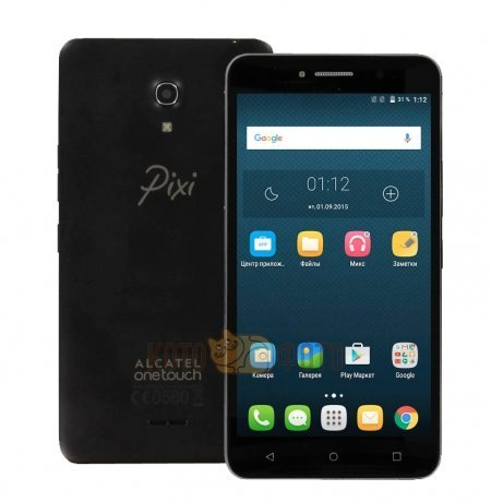 Смартфон Alcatel One Touch PIXI 4(6) 8050D Black защитная пленка luxcase sp для alcatel one touch pixi 4 8050d