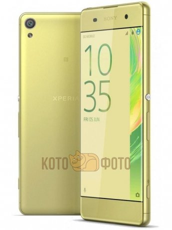 Смартфон Sony Xperia XA LTE F3111 Lime Gold usams crown series glow in dark perfume tpu back case for iphone 6 4 7 green white