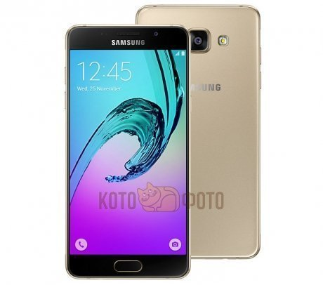 Смартфон Samsung Galaxy A5 (2016) SM-A510F/DS Gold samsung galaxy a5 sm a510f ds pink gold