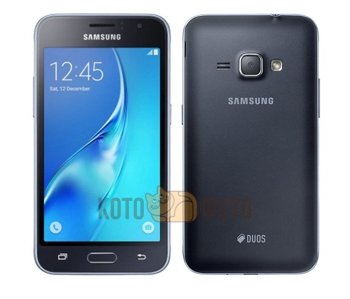 Смартфон Samsung Galaxy J1 (2016) SM-J120F/DS Black сотовый телефон samsung sm j120f ds galaxy j1 2016 black