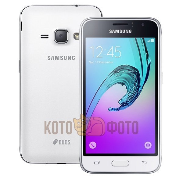 Смартфон Samsung Galaxy J1 (2016) SM-J120F/DS White сотовый телефон samsung sm j120f ds galaxy j1 2016 black