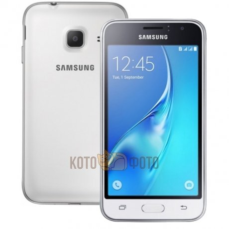Смартфон Samsung Galaxy J1 mini SM-J105H/DS 8Gb White смартфон samsung j1 mini 2016 sm j105h 8gb black