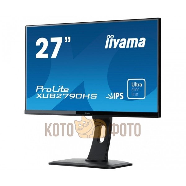 Монитор Iiyama XUB2790HS-B1 монитор iiyama 21 5 prolite t2253mts b1 черный tn led 2ms 16 9 dvi hdmi m m матовая 1000 1 250cd 170гр 160гр 1920x1080 d sub fhd usb touch 5 6кг