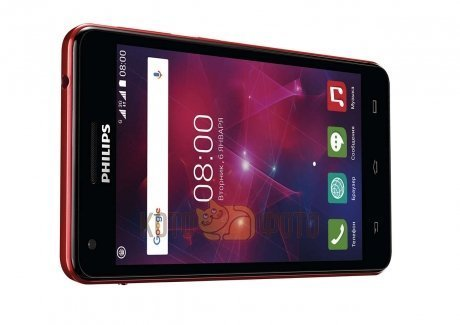 Смартфон Philips Xenium V377 Black/Red