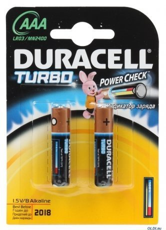 Duracell LR03-2BL Turbo (2шт) (AAA)
