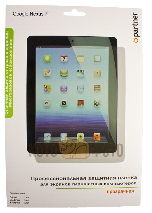 Partner Защитная пленка для планшета Google Nexus 7 прозрачная enkay clear hd protective film guard screen protector for google nexus 7 ii transparent