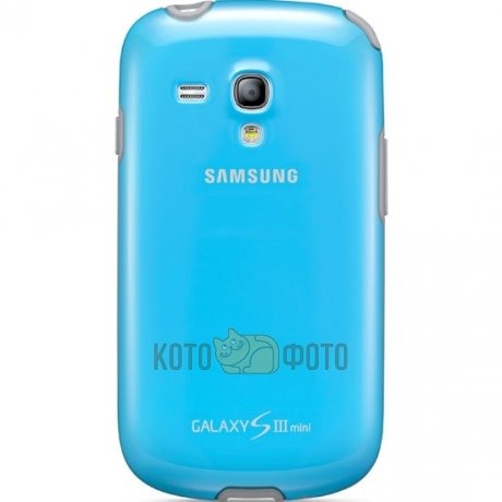 Samsung Protective Cover+ S3 mini Light Blue