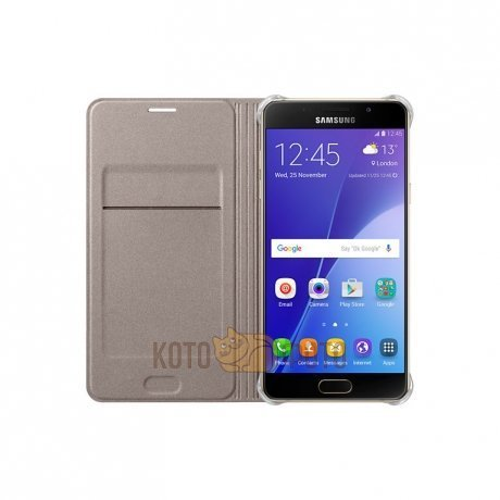 Чехол Samsung FlipWallet для Galaxy A7 (A710) SAM-EF-WA710PFEGRU Gold
