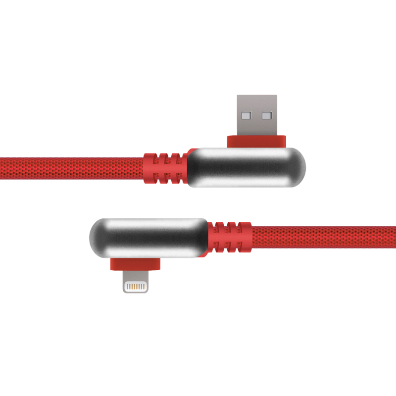 Фото - Кабель Rombica Digital Electron I Red USB - Apple Lightning нейлоновая оплетка 1.2м красный кабель pny lightning charge