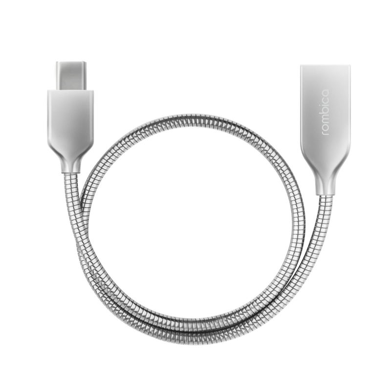 Фото - Кабель Rombica Digital CS-10 mini USB - USB Type-C металлическая оплетка 0.3 м серебристый free shipping best quality for eu usa usb digital microscope 1 3mpixel usb digital microscope with 20 200x magnification