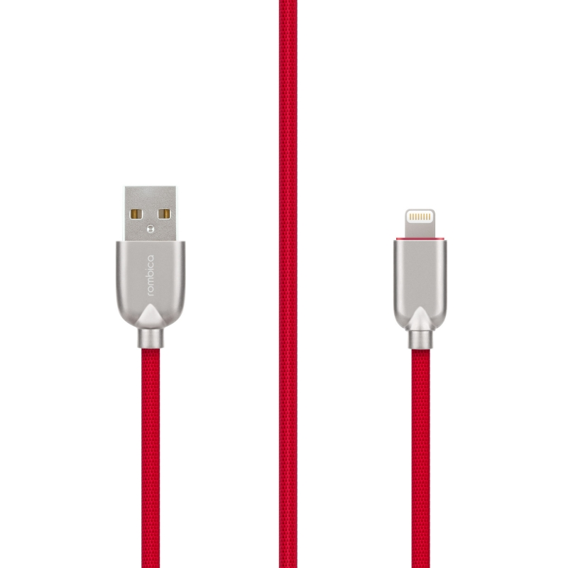 Кабель Rombica Digital MB-05 USB - Apple Lightning (MFI) текстиль 1м красный кабель rombica digital ab 05 usb microusb 1 м