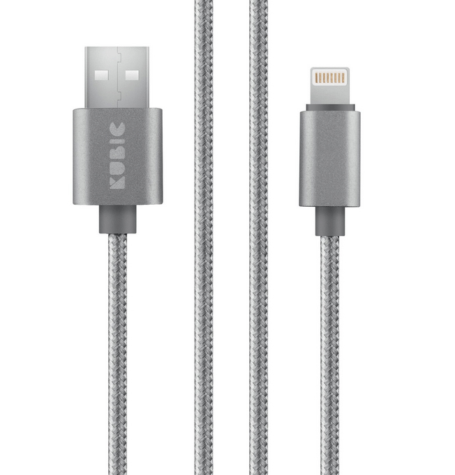 Кабель Kubic C05L Gray USB - Apple Lightning текстиль 3м серый кабель akai usb – apple lighting gray