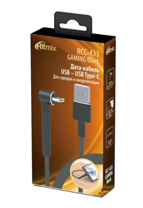 Фото - Кабель RITMIX RCC-433 GAMING USB – Type C Black кабель ritmix rcc 433 gaming usb – type c black