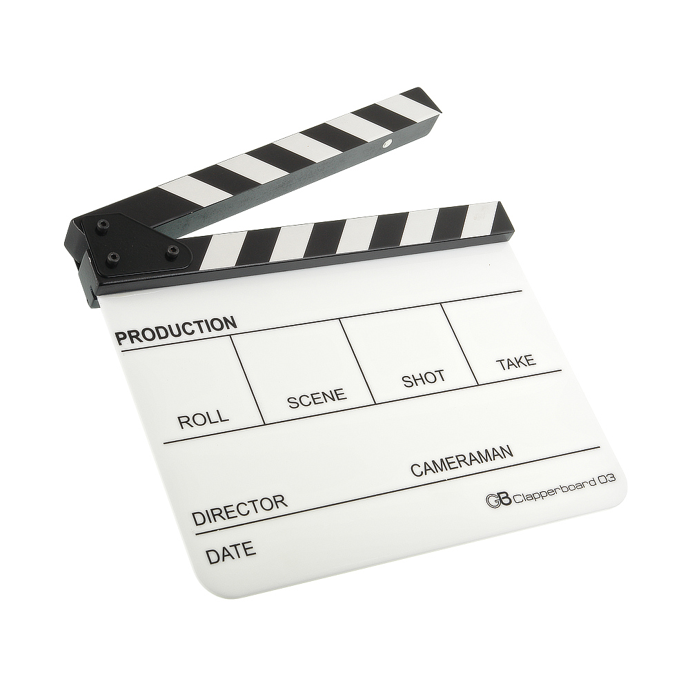 Кинохлопушка GreenBean Clapperboard 03 (белая) недорого