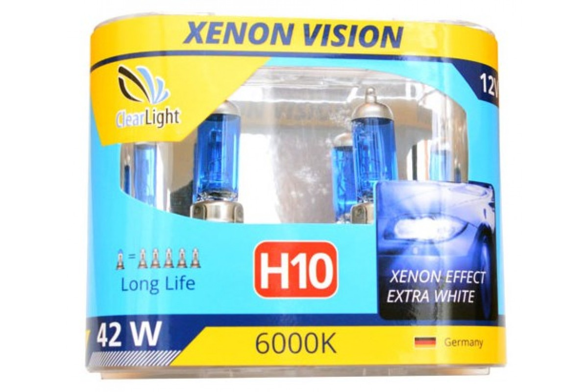 Лампа H10(Clearlight)12V-42W XenonVision (компл., 2 шт.)