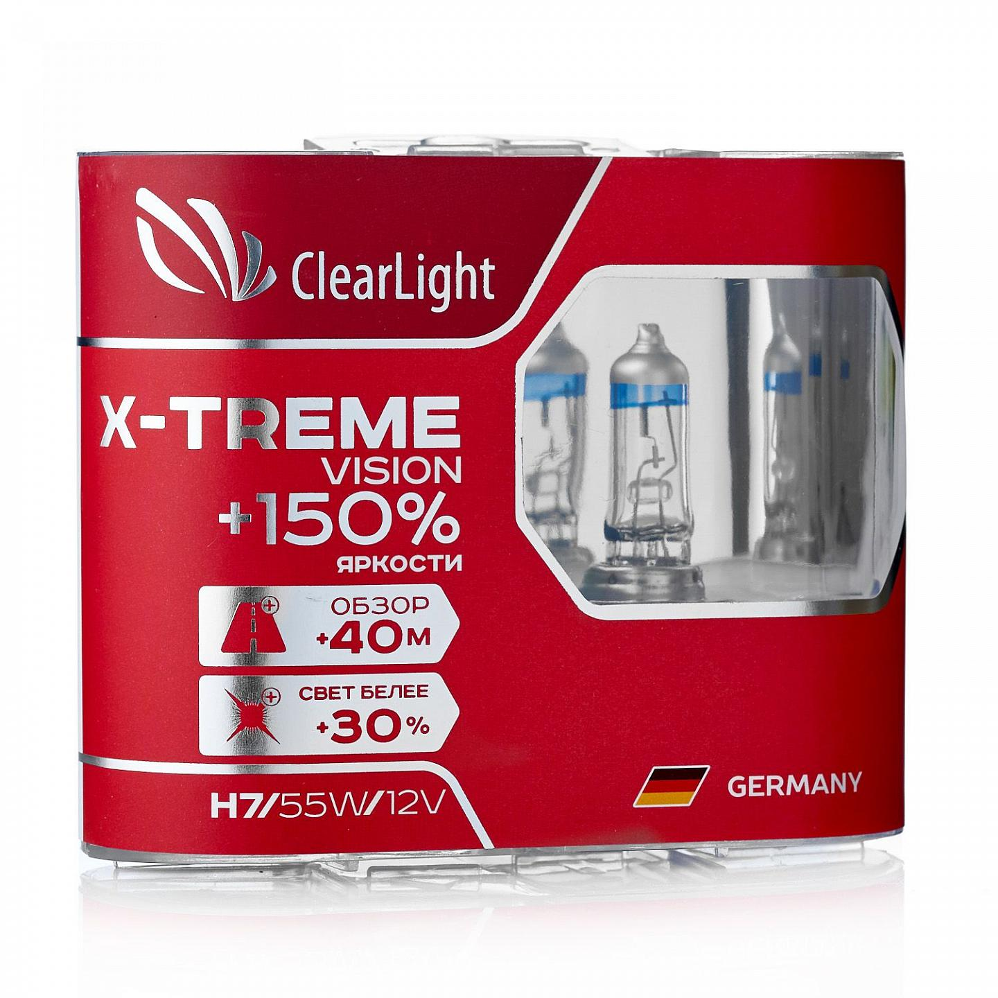 цена на Лампа H9(Clearlight)12V-65W X-treme Vision +150% Light (компл., 2 шт.)