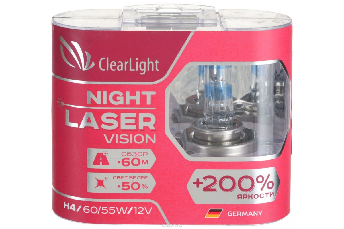 цены Лампа HB4(Clearlight)12V-51W Night Laser Vision +200% Light (компл., 2 шт.)