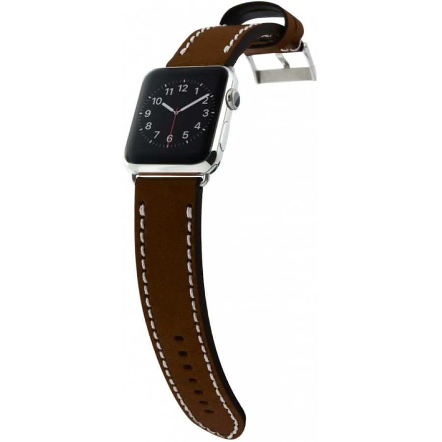 Ремешок Cozistyle Leather Band for Apple Watch 42mm (CLB012) Dark Brown аксессуар ремешок activ sport band для apple watch 42mm dark blue 79541
