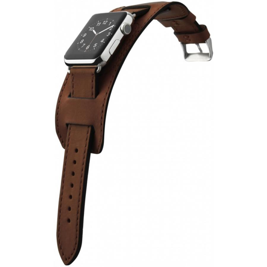 Ремешок Cozistyle Wide Leather Band for Apple Watch 42mm (CWLB12) Dark Brown аксессуар ремешок activ sport band для apple watch 42mm dark gray 79542