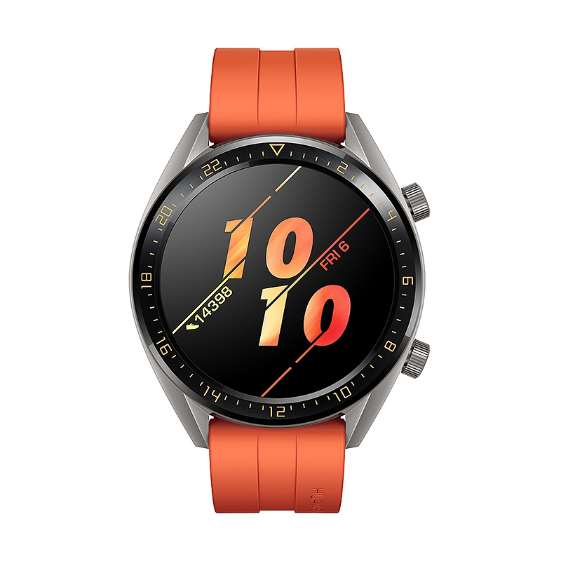 Умные часы Huawei Watch GT Active Orange смарт часы huawei watch gt orange 46 mm 1 4 amoled 454x454 ceramic bezel 10 6 mm thickness up to 30 days in watch mod