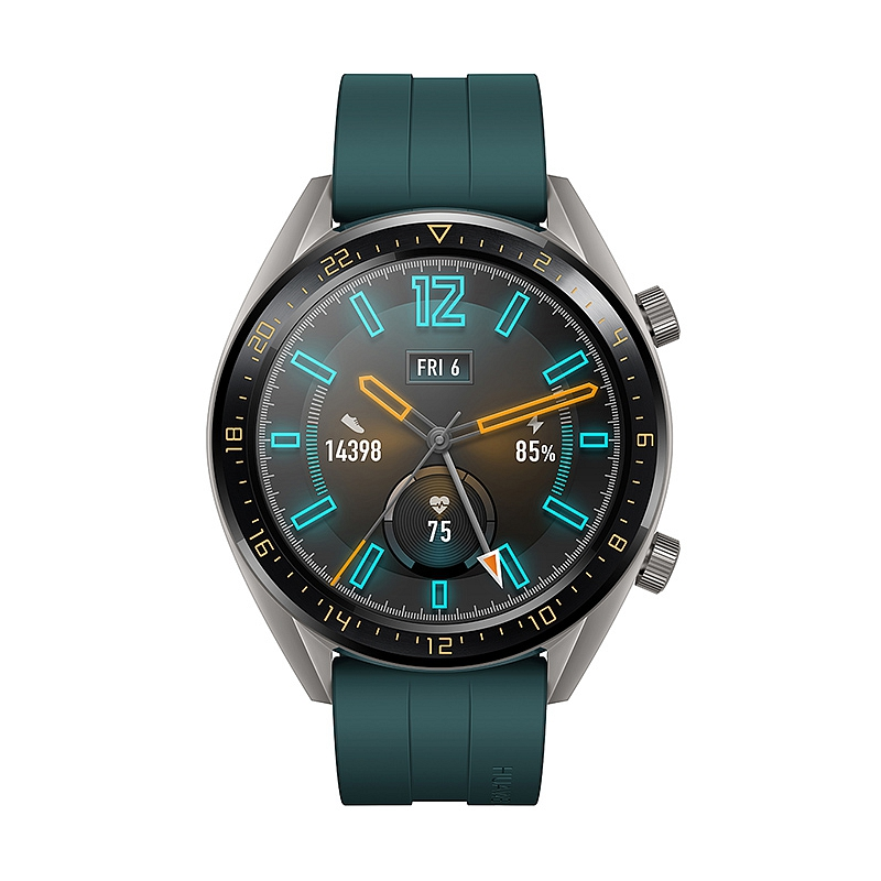 Умные часы Huawei Watch GT Active Dark Green смарт часы huawei watch gt orange 46 mm 1 4 amoled 454x454 ceramic bezel 10 6 mm thickness up to 30 days in watch mod