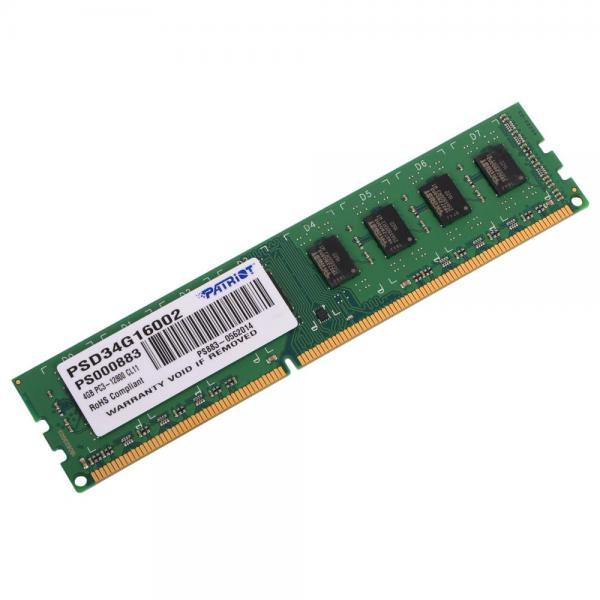 Память DDR3 Patriot 4Gb Signature Line (PSD34G16002)