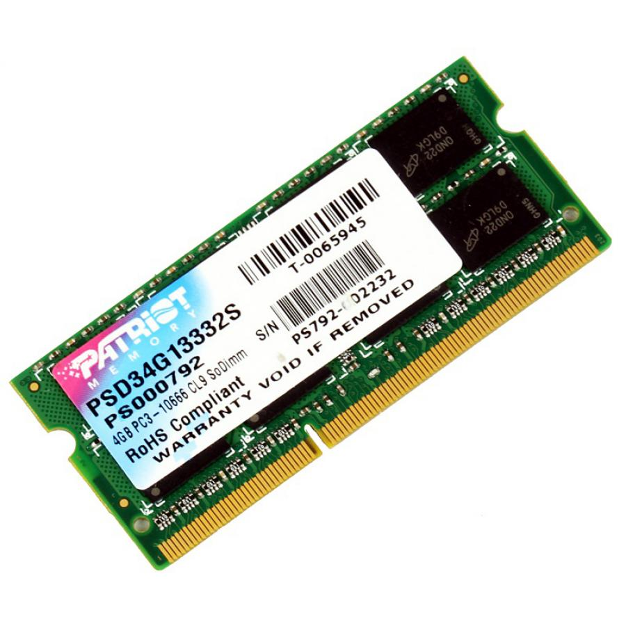 Память SO-DIMM DDR3 Patriot 4Gb 1333MHz (PSD34G13332S)
