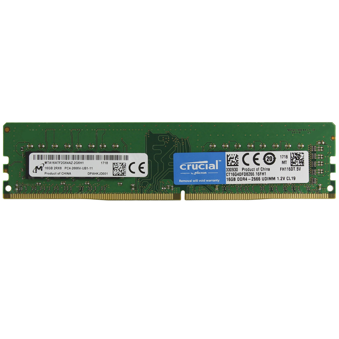 купить Память DDR4 Crucial 16GB CL19 DR x8 Unbuffered (CT16G4DFD8266) дешево