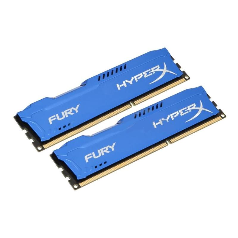 все цены на Память DDR3 Kingston 8GB 1333MHzПамять DDR3 CL9 DIMM (Kit of 2) HyperX FURY Blue Series (HX313C9FK2/8) онлайн