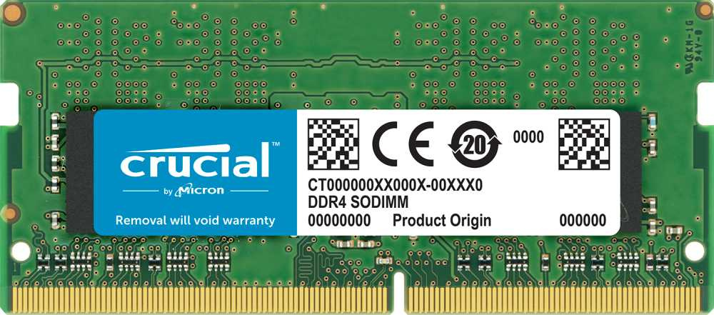 Память оперативная DDR4 Crucial 8Gb 2666MHz (CT8G4S266M) crucial technology bls8g3d1609ds1s00